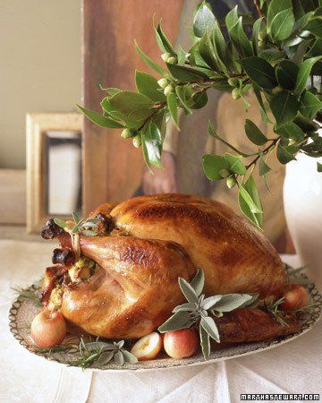 Leave it to Martha Stewart to have the Perfect roast turkey recipe.  Actually someone we know uses this method and swears that it is fool proof and delicious.