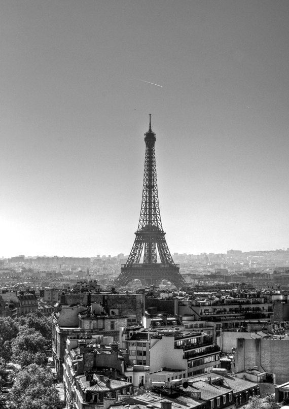 The Eiffel Tower, Paris  A place l want to visit, also l love blk and white photos