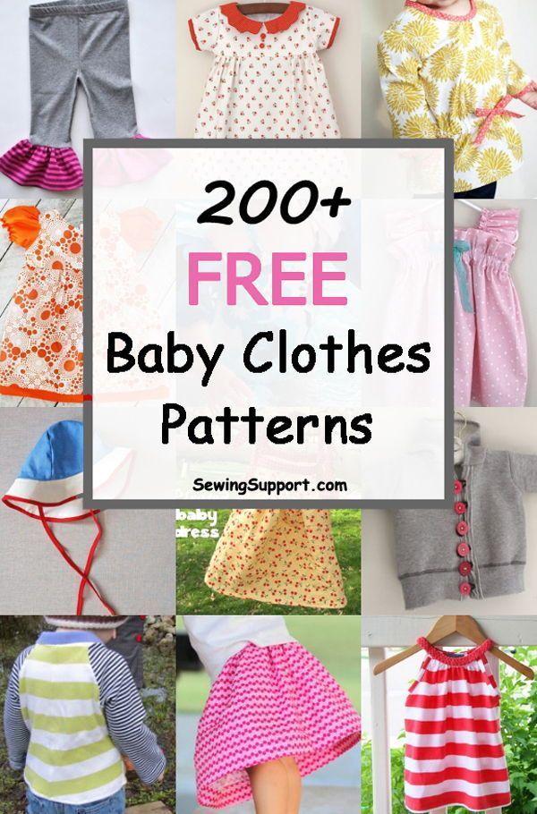 200+ Free Baby Clothes Patterns        Kostenlose Schnittmuster für Babykleidun…