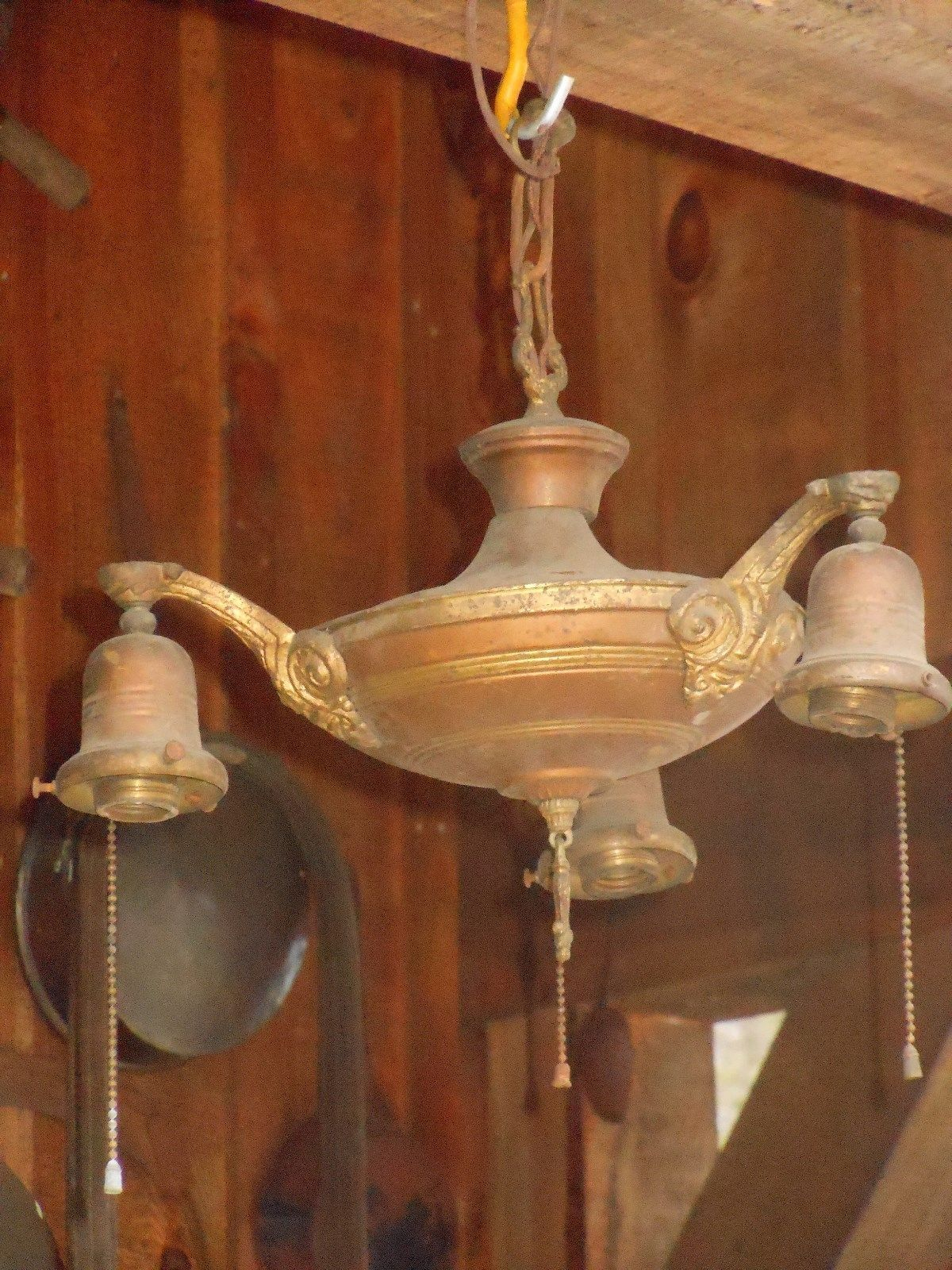 1920s antique art deco era slip shade opalescent milk glass 1920s antique art deco era slip shade opalescent milk glass hanging chandelier estate fresh clean no reserve 15 x 33 ssaobx arubaitofo Image collections
