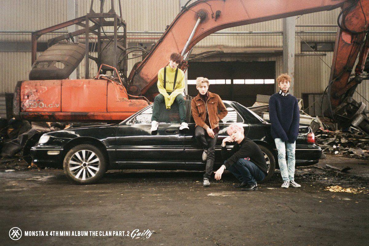Minhyuk, I.M, Kihyun e Hyungwon MONSTA X ❤
