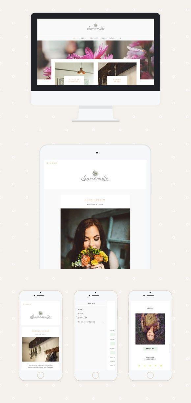 Chamomile Premade Wordpress Theme. Tumblr Themes. $70.00 | Portfolio ...