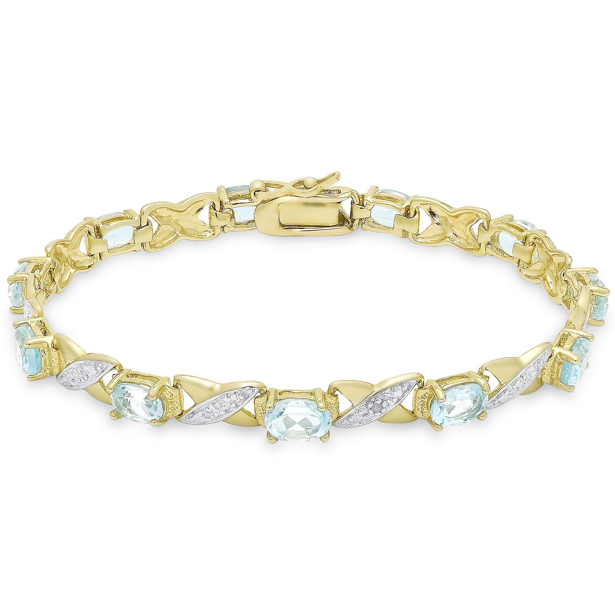 Dolce giavonna gold over sterling silver gemstone diamond accent xo