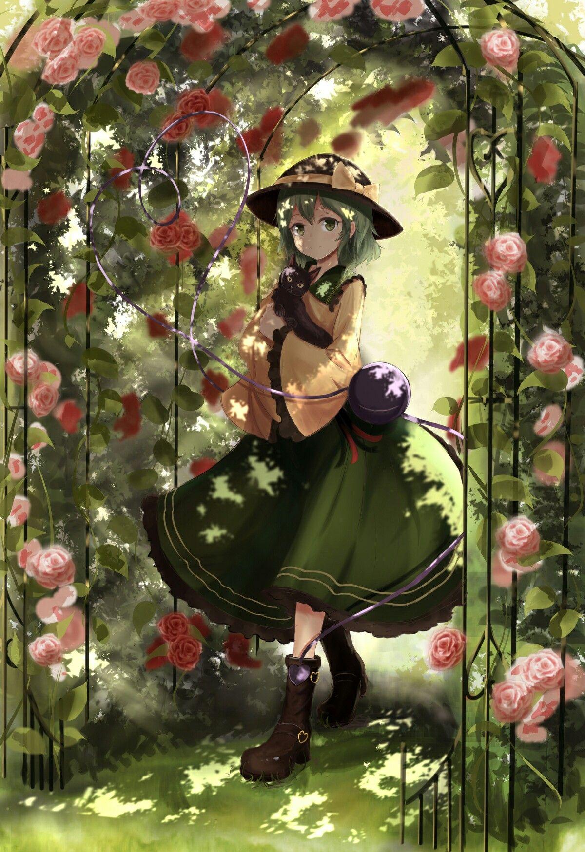 Koishi in the garden | touhou | Pinterest | Gardens, Anime and Anime ...