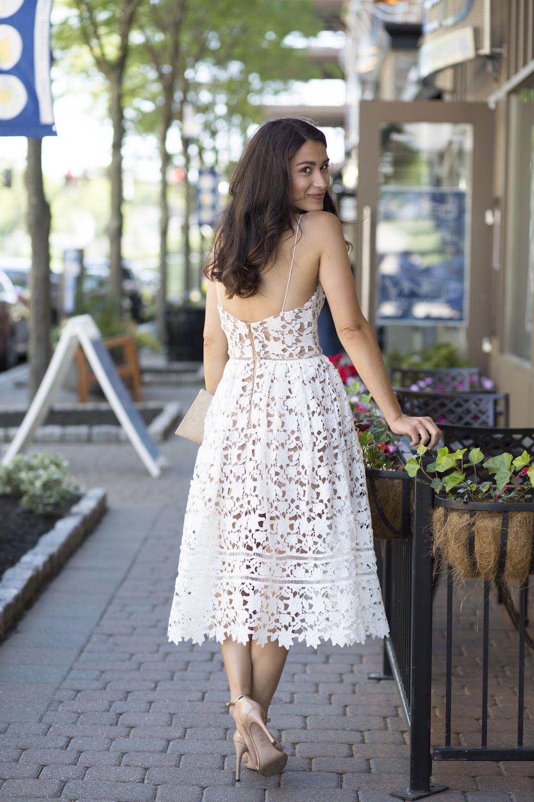 Summer Outfit Ideas White Lace Dress Bridal Shower Outfit Bridal Outfits Bridal Party Shirts [ 1600 x 1066 Pixel ]