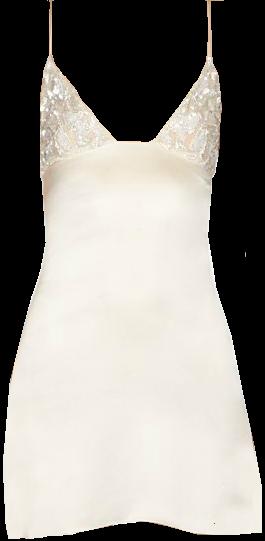 Saint Laurent Beaded Mini Slip Dress
