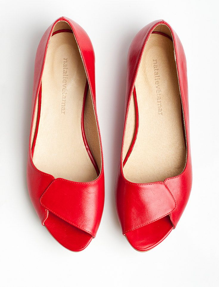 19265fbcd7 Aya red peep toes | My Kind of Shoes in 2019 | Shoes, Sock shoes ...