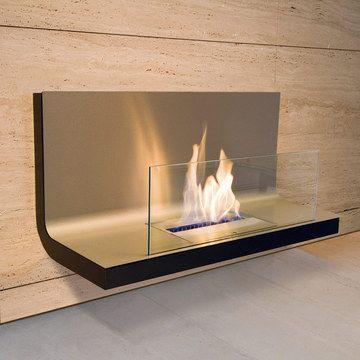 Wall Flame I Ethanol Feuerstelle Von Radius. Elegant An Der Wand Flackert  Dieser Rußfreie
