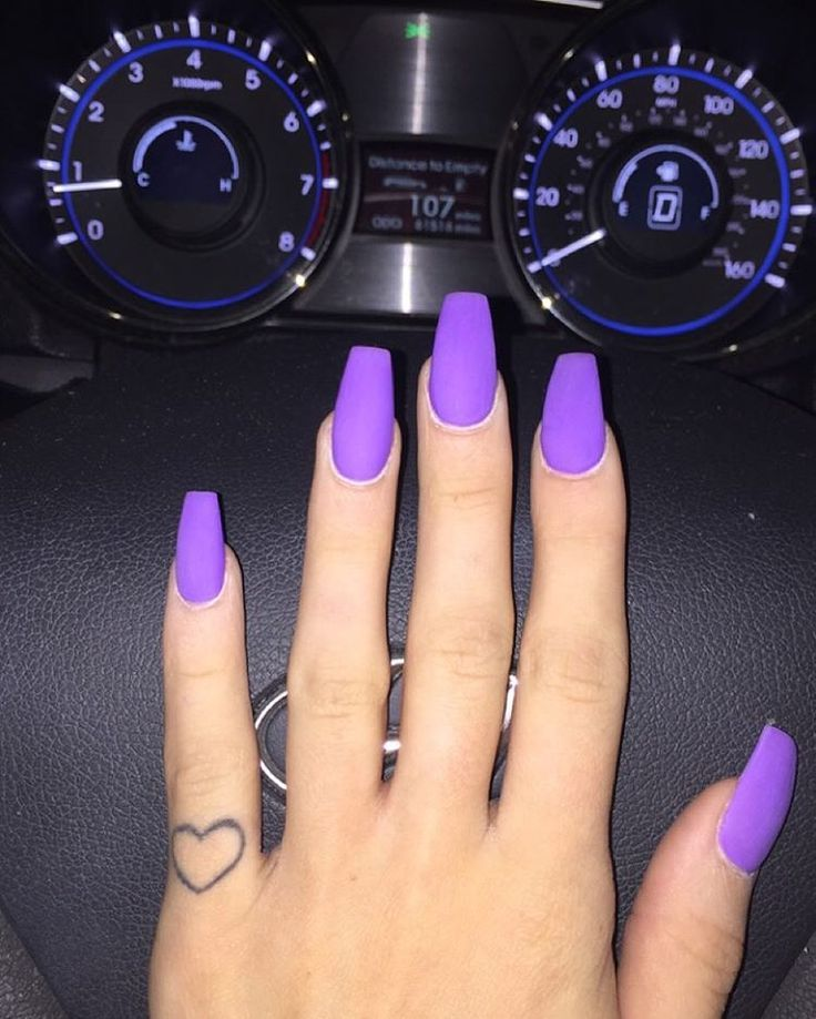 9 Gorgeous Stiletto Nails Perfect for the Holidays - 9 Gorgeous Stiletto Nails Perfect For The Holidays Matte Purple
