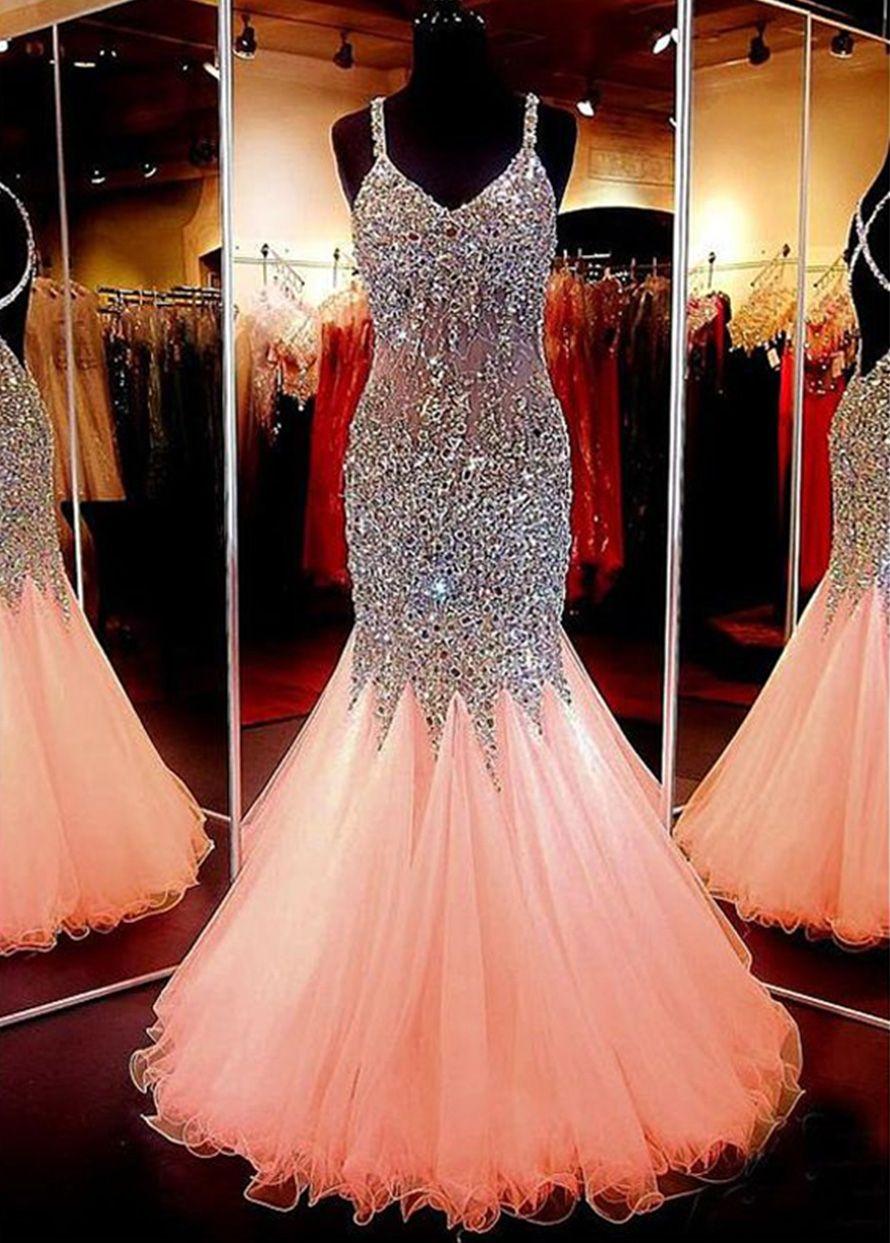 Beauty Schatzausschnitt Meerjungfrau offenen Rücken Perlen Abendkleid Festzug formelle Kleidung   – Prom dresses