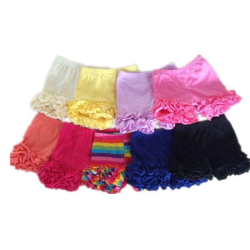 57d46faf838 Girls Shorts 6cm Ruffle Shorts Summer Baby Girl Shorts Summer Cotton Solid  Shorts For Girls Kids Girls Clothes 2016 Kaiya Angel