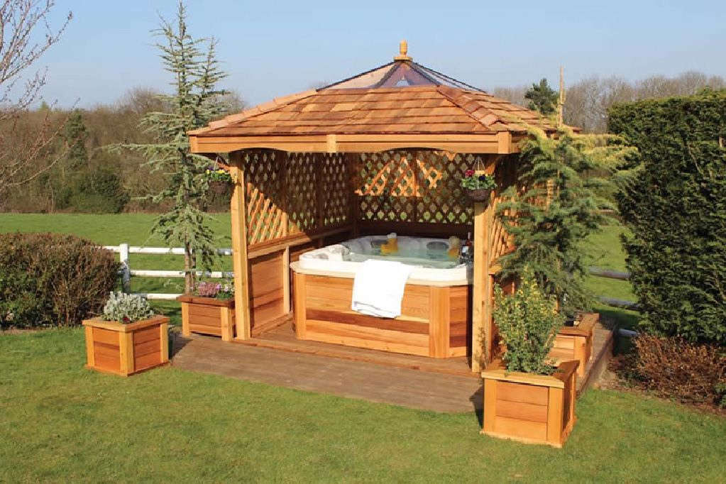 Hot tub cool stuff i want pinterest shelters for Hot tub shelters