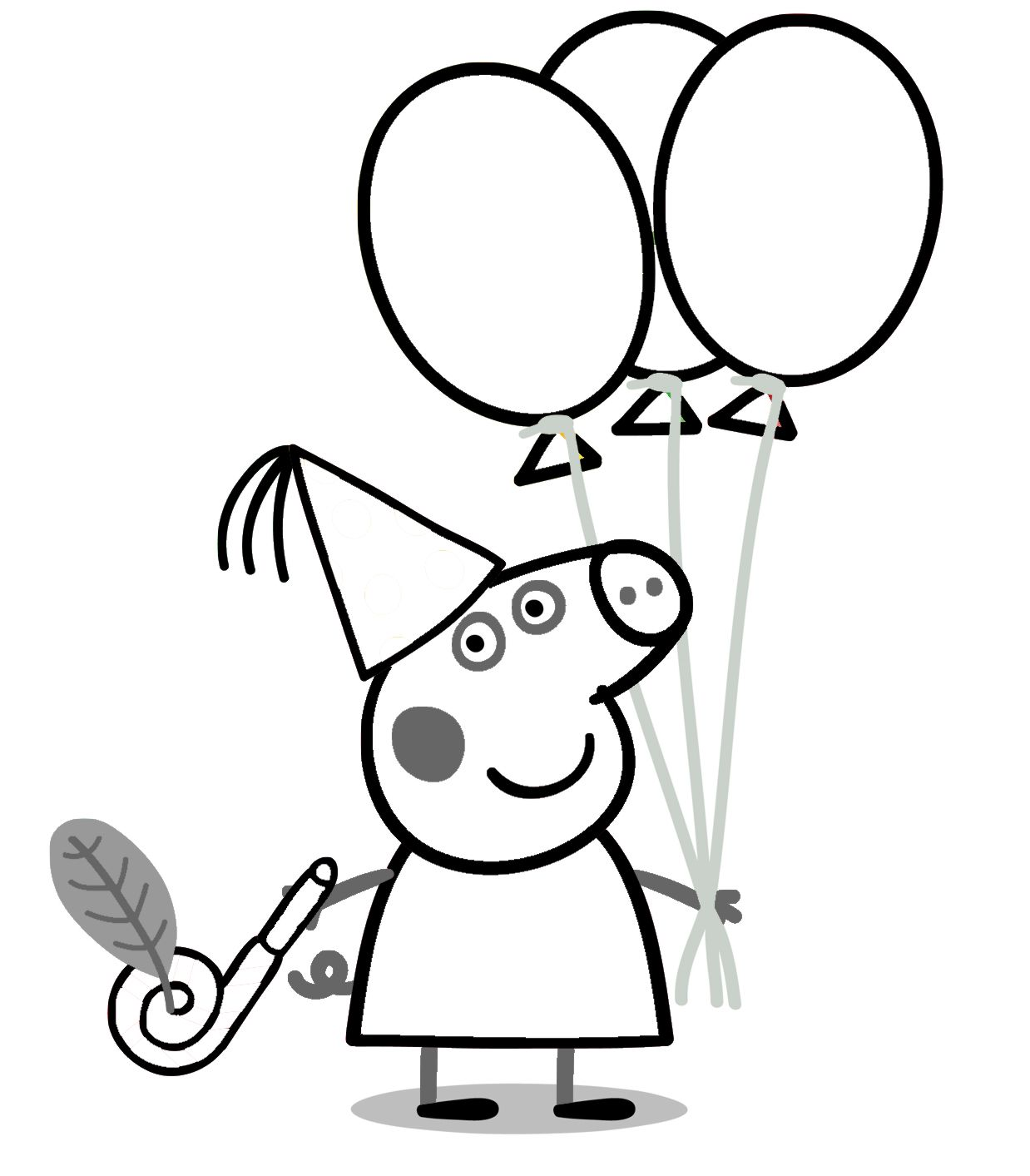 Peppa pig color pages - Peppa Pig Coloring Pages Google Search