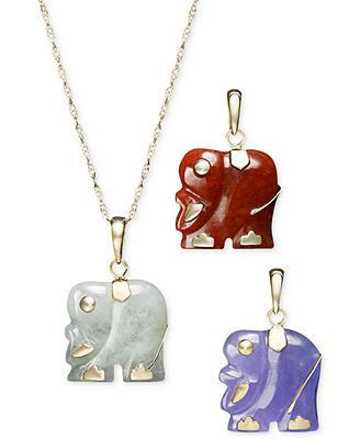 14k gold necklace set dyed jade elephant pendant set jewelleries 14k gold necklace set dyed jade elephant pendant set aloadofball Gallery