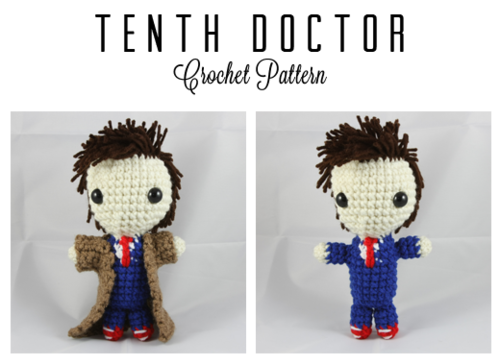 Tenth Doctor Doll ( Doctor Who) - Free Amigurumi Pattern here: http ...