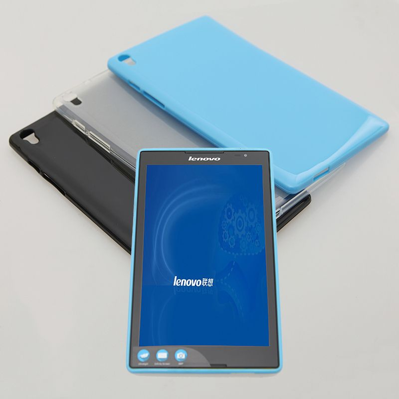 new product 2d53b 53e0a Silicone Soft Case for Lenovo Tab S8 50 S8-50F S8-50LC Tablet Back ...