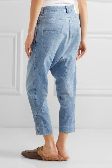 Enjoy For Sale Super Lo Slung Cropped Boyfriend Jeans - Blue Bassike Clearance In China How Much Cheap Price ja1EiKgzE