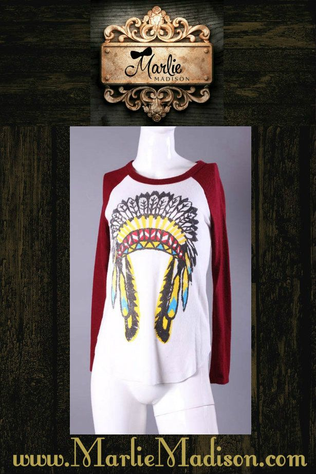 Chief Long Sleeve Top http://www.marliemadison.com/tops