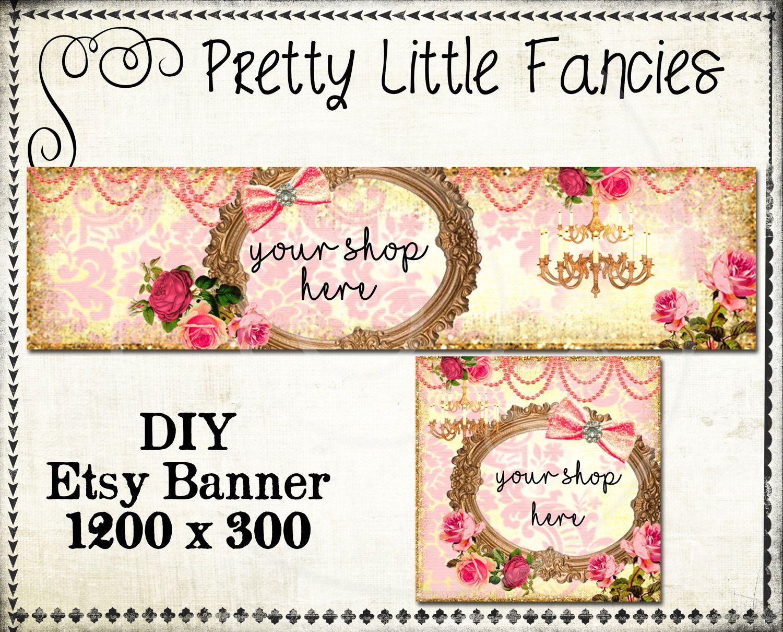 Etsy Shop Banner Diy Banner Template Premade Etsy Store Large Banner