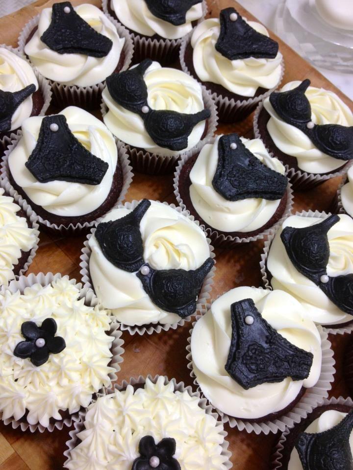 Lingerie Corset Bustier Bra Cupcakes for Bridal