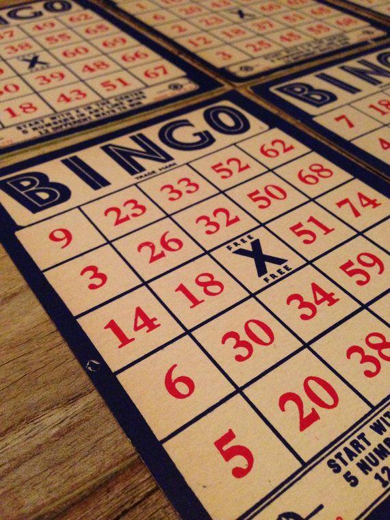 Vintage Bingo Game Cards Set of 8 Carnival Wedding ...