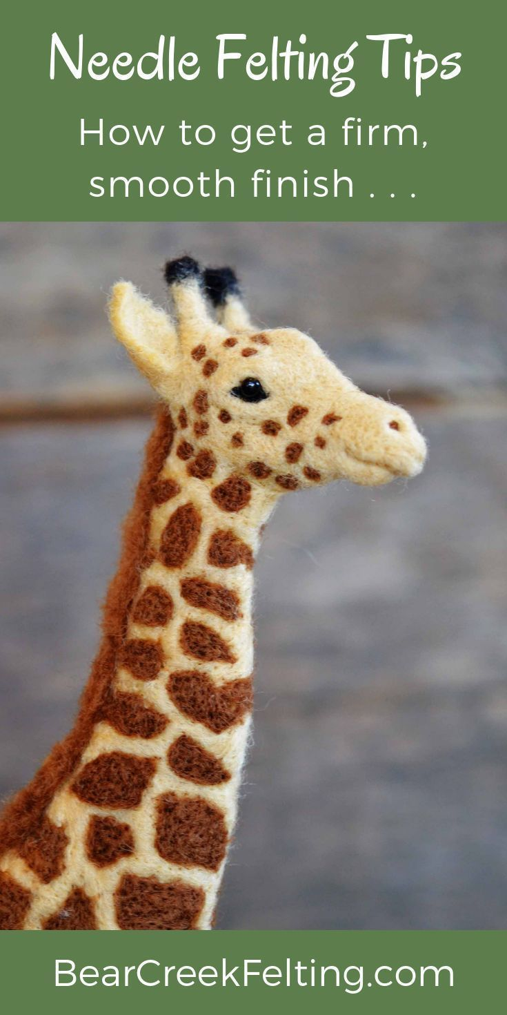 Learn how to get smooth, fuzz free finishes on your needle felted sculptures. 3 easy tips that will help you take your needle felting to the next level. #feltedwoolanimals
