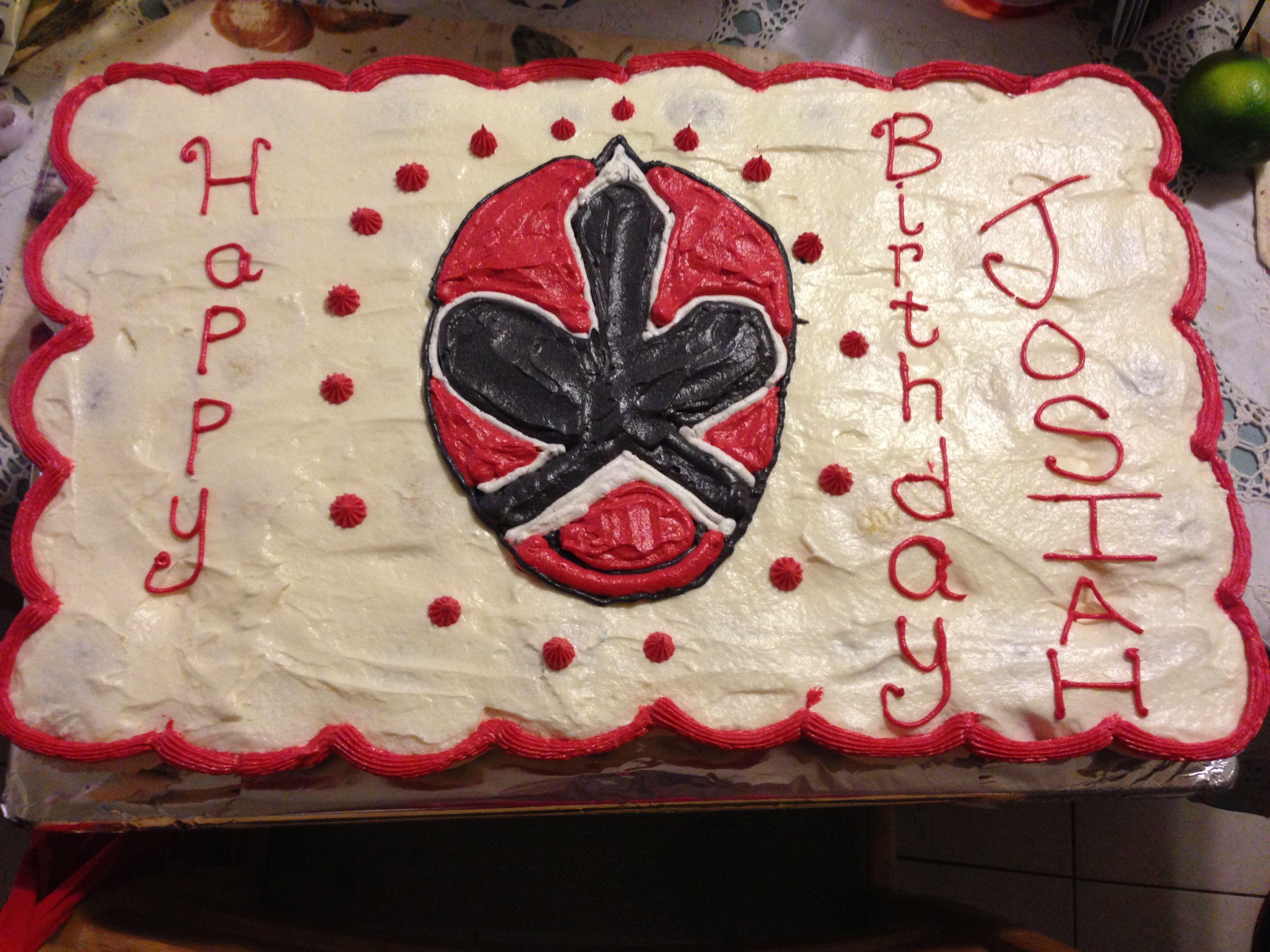 Red Power Ranger Cupcake pullapart cake Cupcakes Pinterest