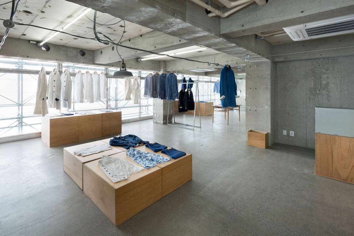 EEL Nakameguro is an apparel shop in Tokyo designed by Tokyo based architect Jo Nagasaka  of  Schemata Architects :