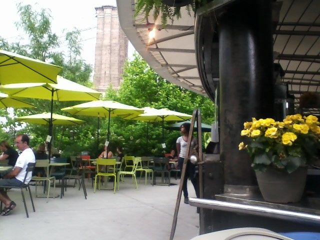 Brooklyn Bridge Garden Bar - overlooks skyline and Brooklyn and ...