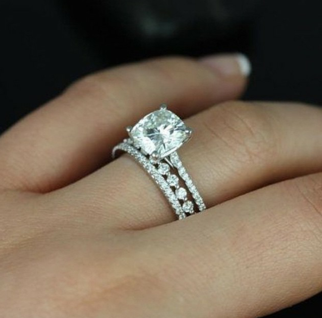 a pin wedding halo paired ring round rings with subtle engagement beautiful