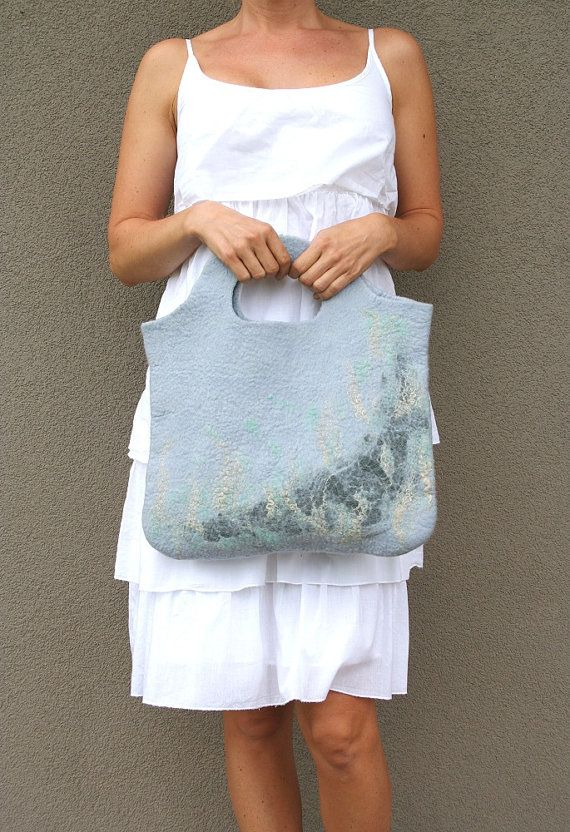 Felted bag  gift idea under 50 by kadabros on Etsy, $45.00