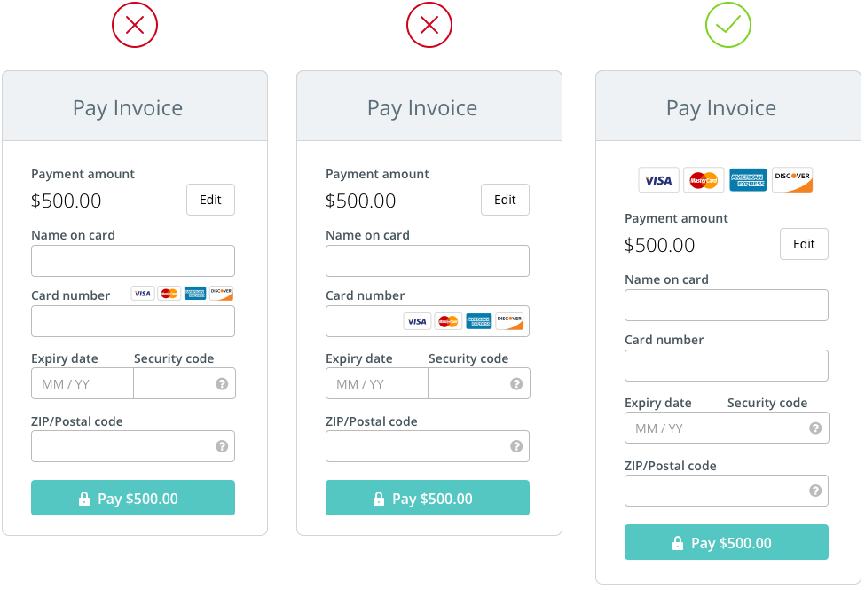 The Anatomy Of A Credit Card Form Credit Card Design Credit Card App Credit Card Website