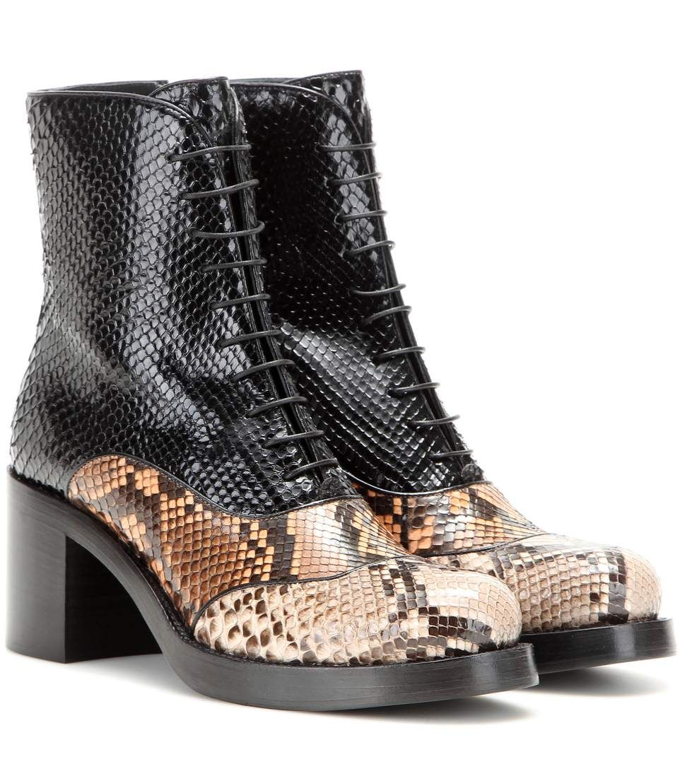 d0c10fc5437 mytheresa.com - Snakeskin Ankle Boots   Miu Miu + mytheresa.com - Luxury  Fashion for Women   Designer clothing, shoes, bags