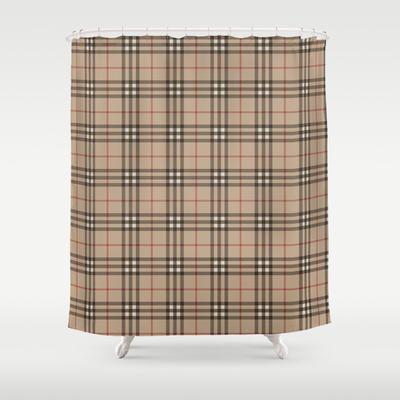 burberry plaid shower curtain