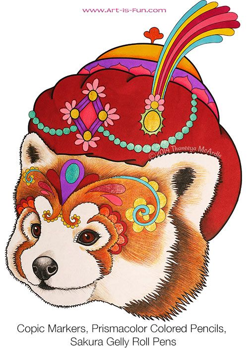 Cute Panda Coloring Page from the Dapper Animals Coloring Book by ...