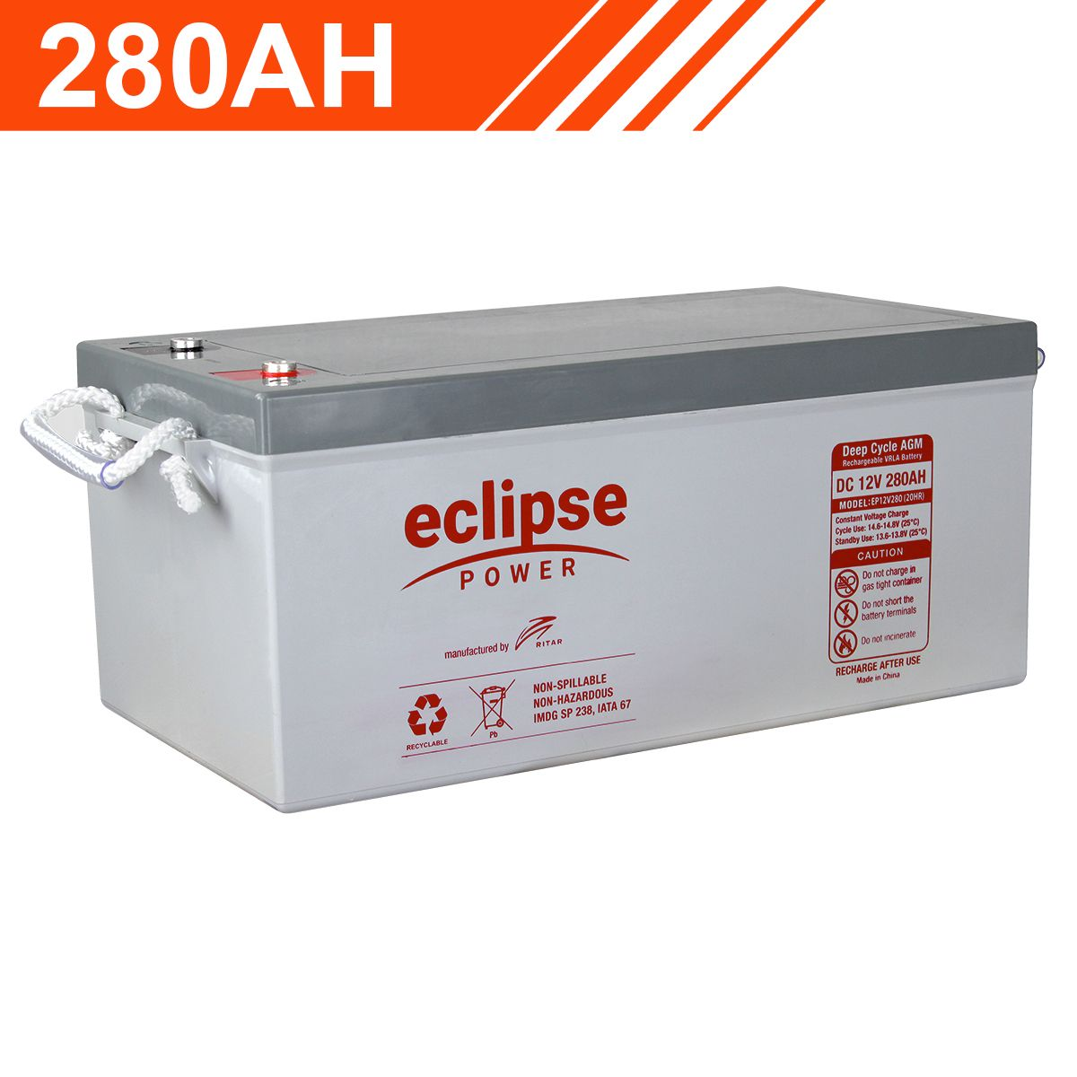 280ah 12v Eclipse Agm Deep Cycle Battery Solar Eclipse Facts Camper Parts Deep