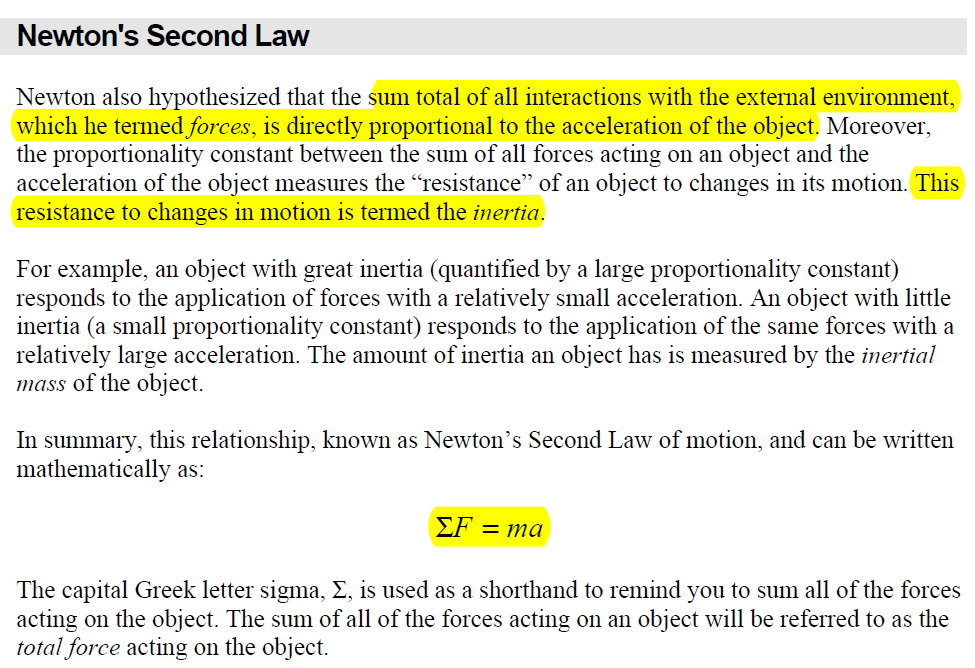 Newton S Second Law Highlights Newtons Second Law Interactive Newton