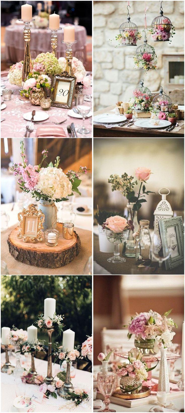 Vintage Hochzeiten »26 Vintage Hochzeit Mittelstücke, die Ihre Hochzeit zu einem … - Hochzeit ideen #bruiloften
