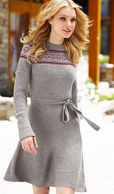 Vestido Gris Tipo Suéter Wardrobe Women Lifestyle