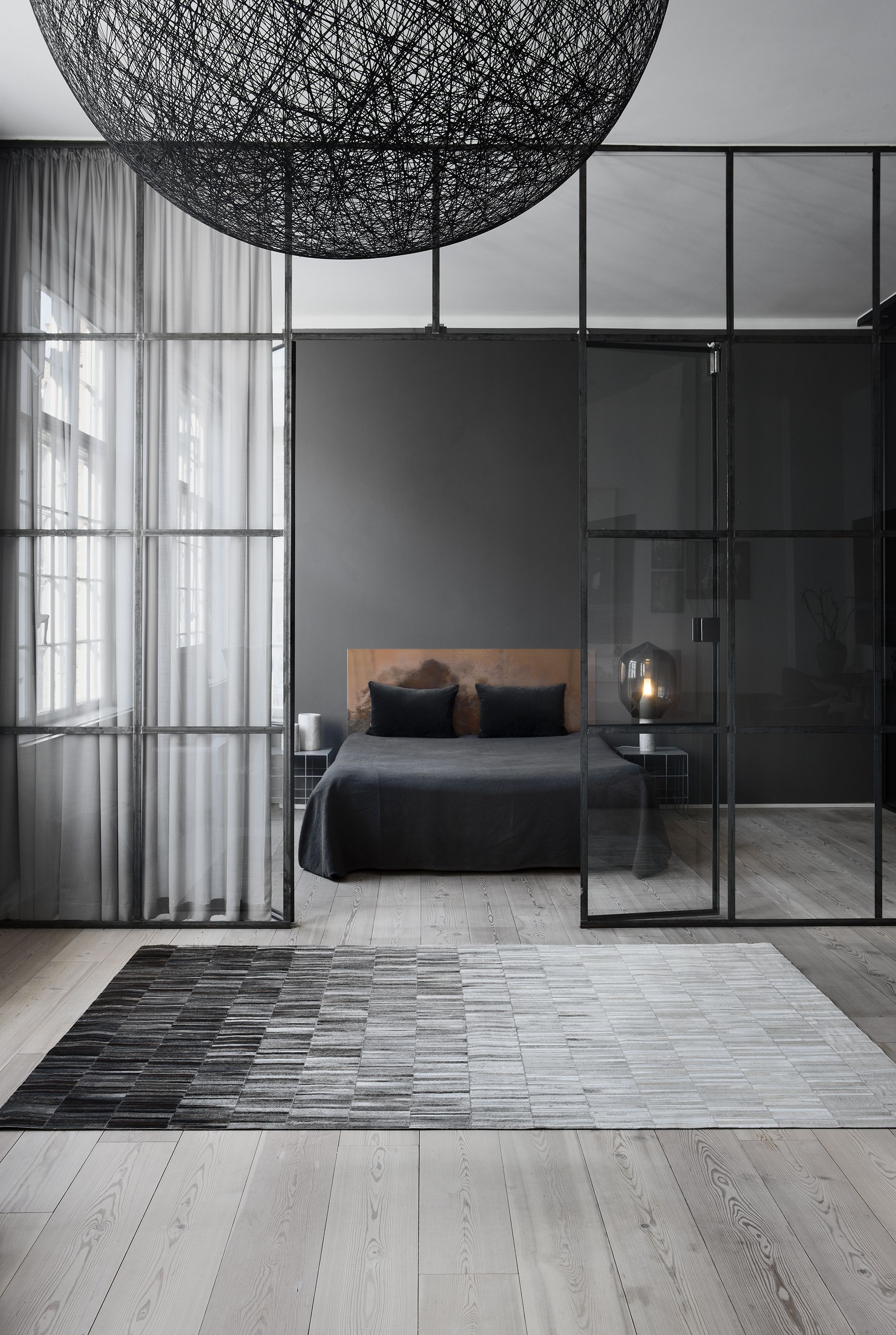master bedroom interior design | grey color is an ideal color for