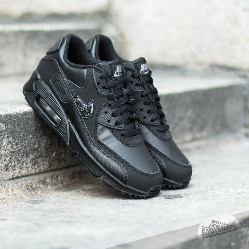 Nike Air Max 90 Leather (GS) Black  Cool Grey - Footshop  8e14772f24