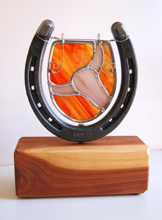 Home Decor Longhorn Western Texas Horseshoe Cedar Stained Gl Tabletop Sculpture Ooak Pinned By Http High5collegeclub