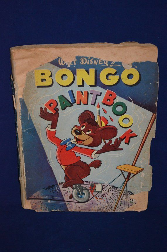BOOK SALE! Vintage Coloring Book: Walt Disney\'s BONGO Paintbook ...
