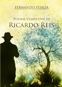 """Capa do livro """"Poemas Completos de Ricardo Reis"""" de Fernando Pessoa."""