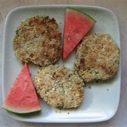 If you like crab cakes, try this unusual version made from zucchini. 'Maryland is famous for its crab cakes, but this recipe can sure fool you,' says Pat Tillman of Pylesville, Maryland. They're easy and economical, too, at 41 cents each.