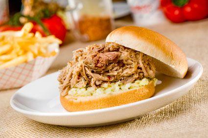 A Pork Bbq And Slaw Sandwich Eastern North Carolina Style Yummy This Franchise