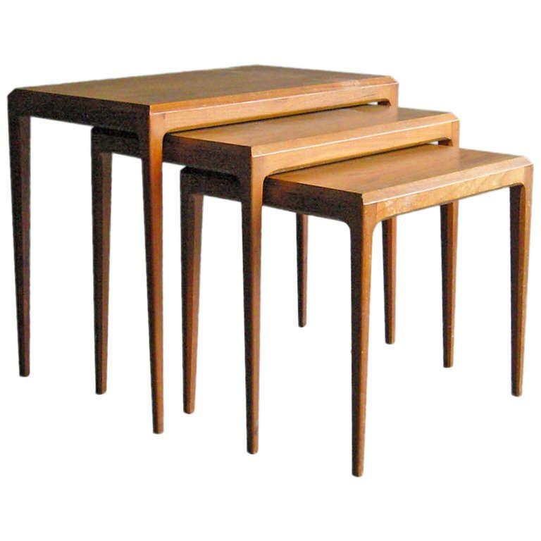 Set Of Danish Nesting Tables By Johannes Andersen