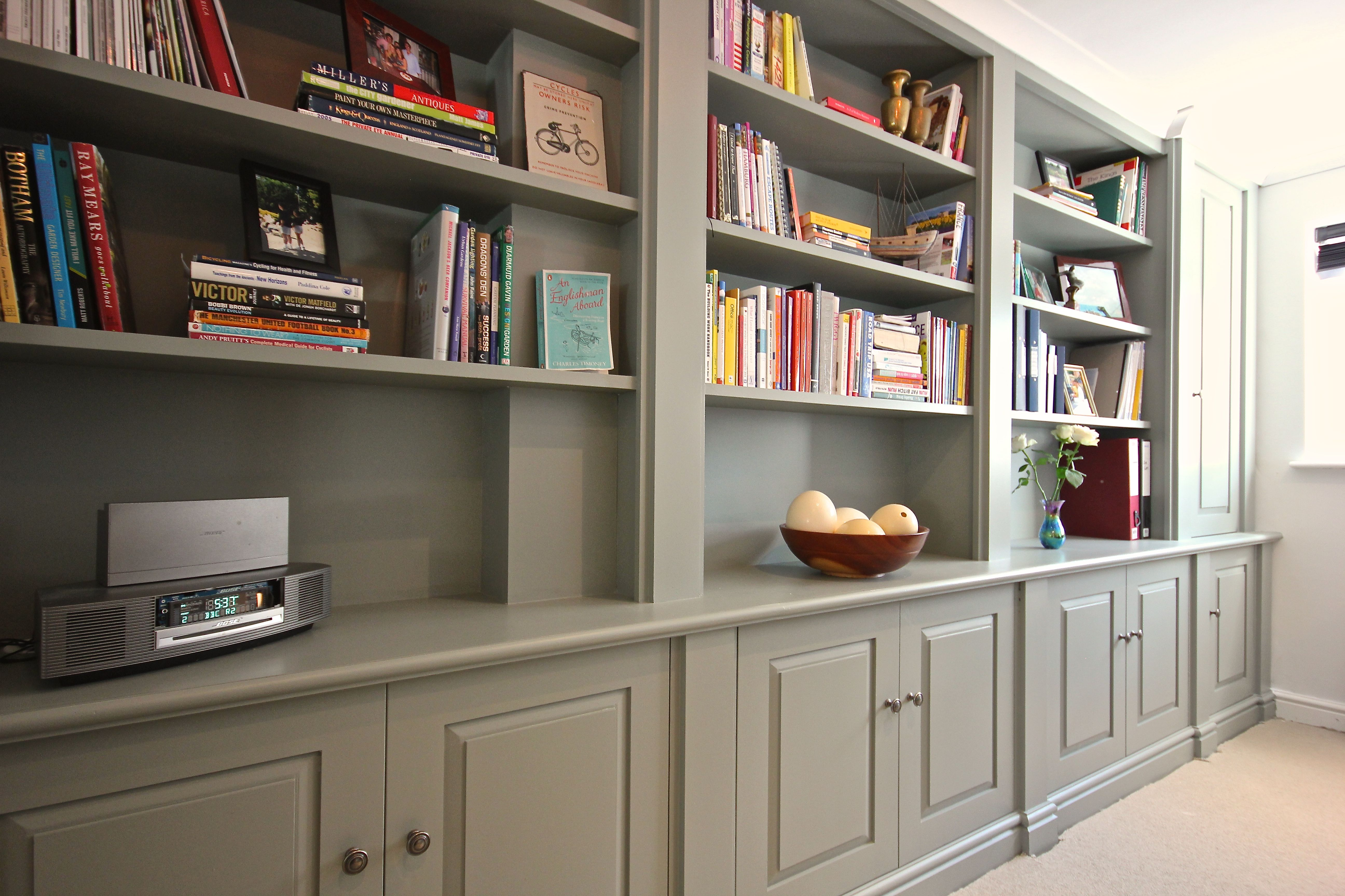 Office Library Furniture. Traditional Styled Bookcase/cupboard Unit Ideal  For Use As Office Furniture