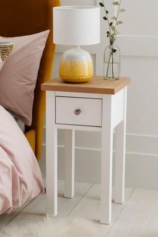 Chalk Malvern Slim Bedside Table In 2020 White Bedside Table