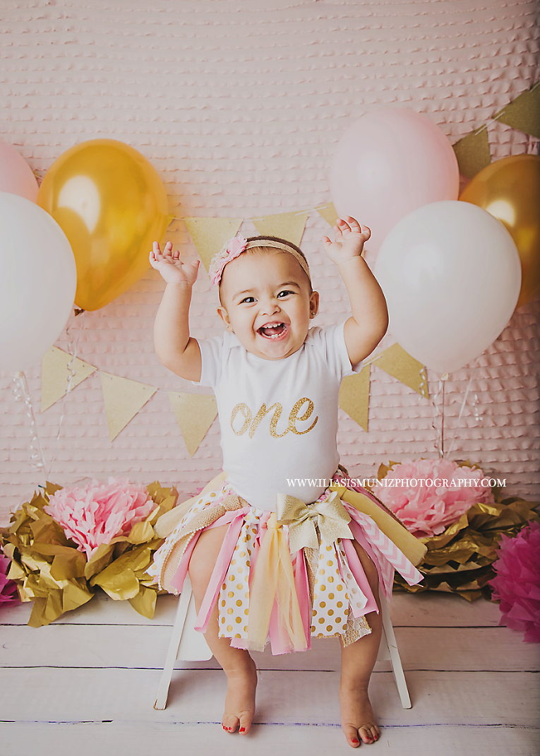 cake smash outfit girl selene s 1st birthday 187 iliasis muniz photography cake 2327